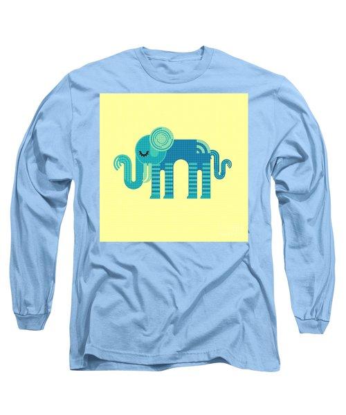 Pattern Elephant Long Sleeve T-Shirt