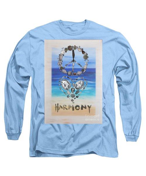 Peace Love Harmony Long Sleeve T-Shirt