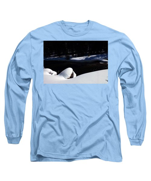 Peaceful Winter Scene Long Sleeve T-Shirt by C Sitton