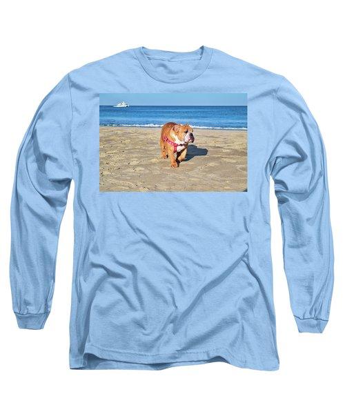 Peanut On The Beach Long Sleeve T-Shirt