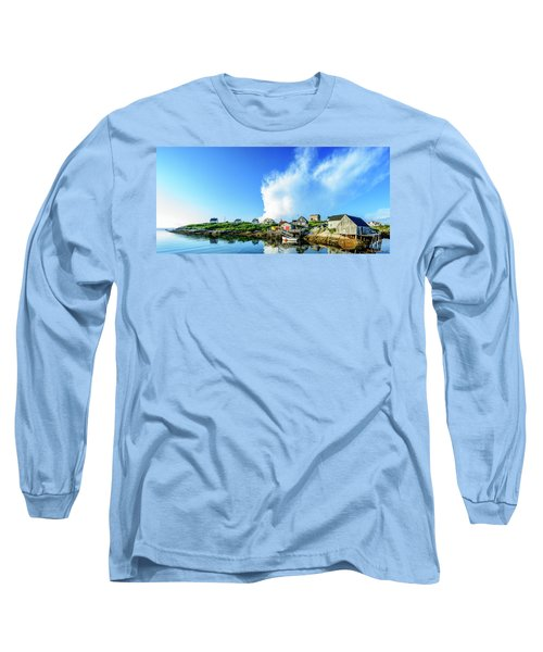 Peggys Cove Long Sleeve T-Shirt by Ken Morris