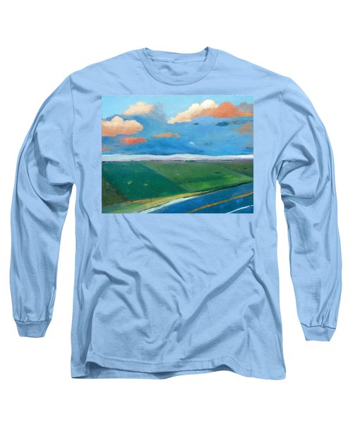 Long Sleeve T-Shirt featuring the painting Peggy's Road by Gary Coleman