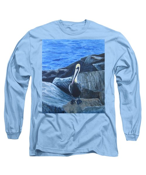 Pelican On The Rocks Long Sleeve T-Shirt