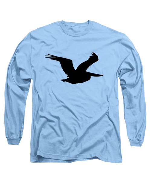 Pelican Profile .png Long Sleeve T-Shirt by Al Powell Photography USA