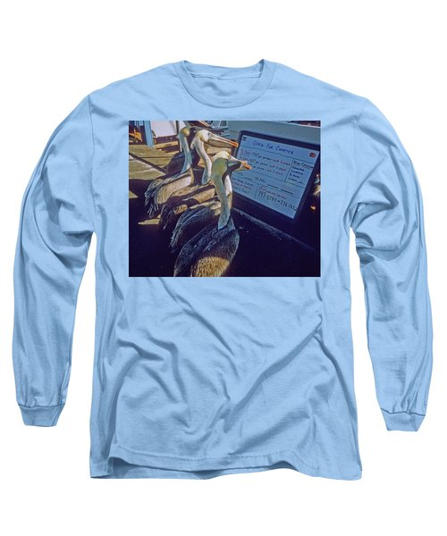 Pelicans And The Menu Long Sleeve T-Shirt