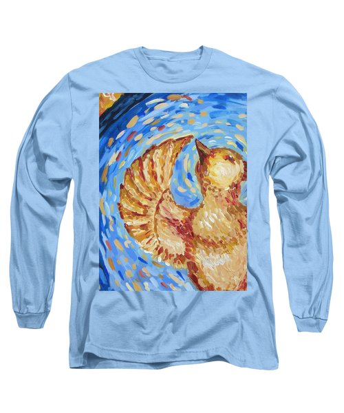 Long Sleeve T-Shirt featuring the painting Phoenix by Maria Langgle