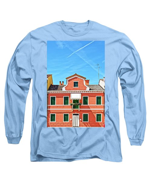 Picturesque House In Burano Long Sleeve T-Shirt