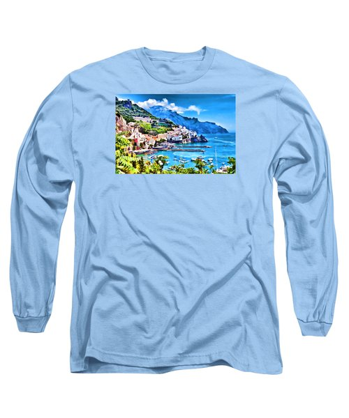 Picturesque Italy Series - Amalfi Long Sleeve T-Shirt by Lanjee Chee
