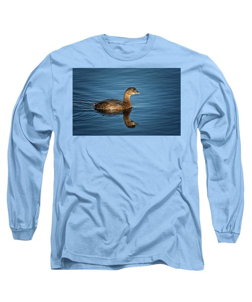 Long Sleeve T-Shirt featuring the photograph Pied Billed Grebe by Randy Hall