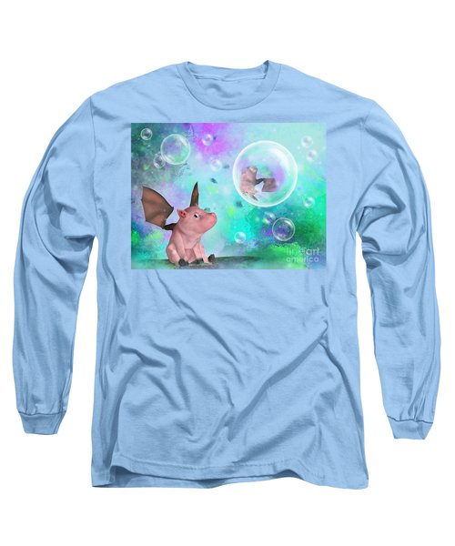 Pig In A Bubble Long Sleeve T-Shirt
