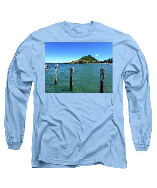 Pilot Bay Beach 3 - Mt Maunganui Tauranga New Zealand Long Sleeve T-Shirt