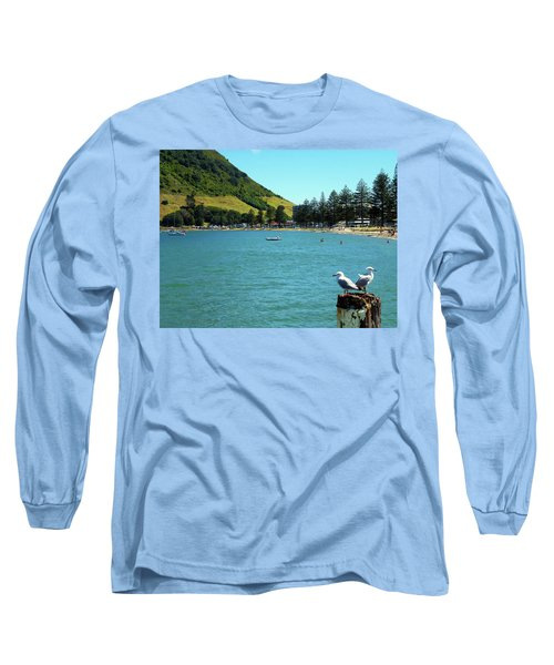 Pilot Bay Beach 5 - Mt Maunganui Tauranga New Zealand Long Sleeve T-Shirt