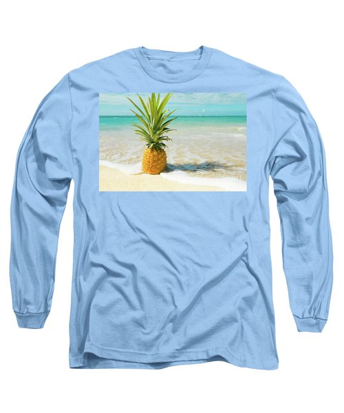 Long Sleeve T-Shirt featuring the photograph Pineapple Beach by Sharon Mau