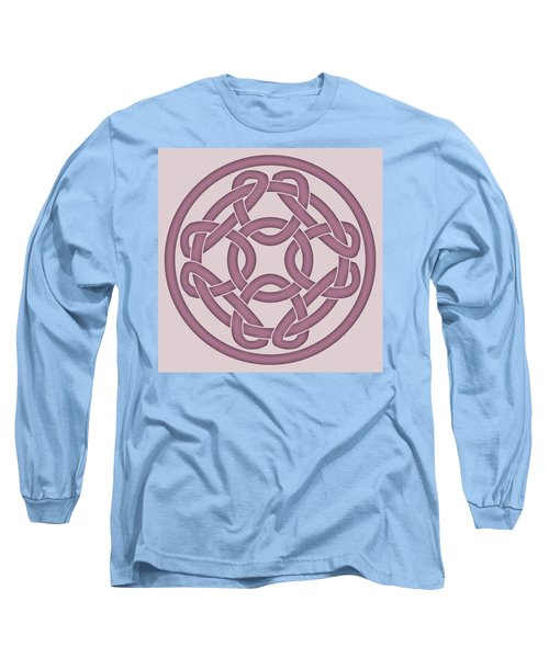 Long Sleeve T-Shirt featuring the digital art Pink Celtic Knot by Jane McIlroy