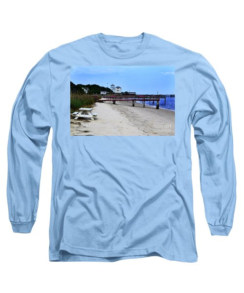 Pink Pier Southport, North Carolina Long Sleeve T-Shirt