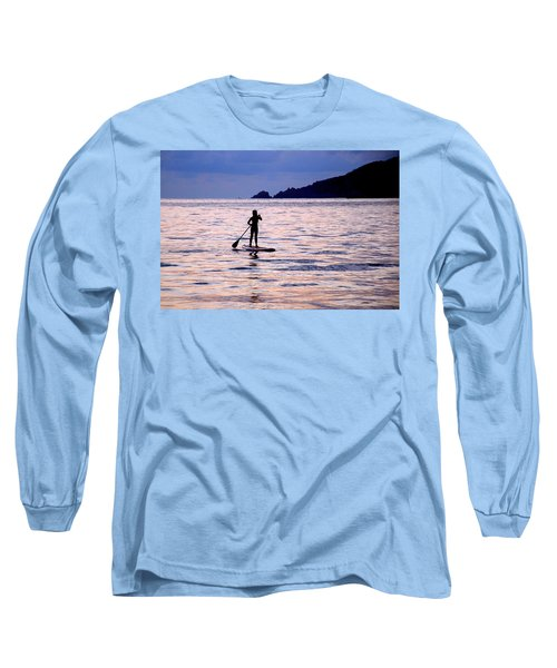 Pink Water Girl Long Sleeve T-Shirt by Jim Walls PhotoArtist