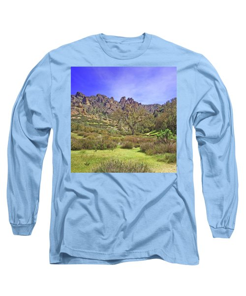 Long Sleeve T-Shirt featuring the photograph Pinnacles National Park Watercolor by Art Block Collections