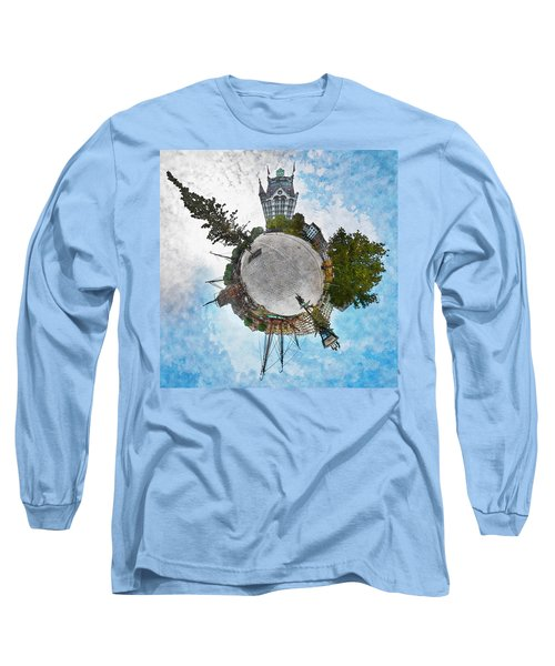Planet Gelderseplein Rotterdam Long Sleeve T-Shirt by Frans Blok