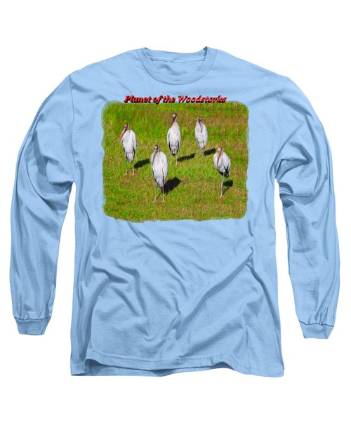 Planet Of The Woodstorks 2 Long Sleeve T-Shirt by John M Bailey