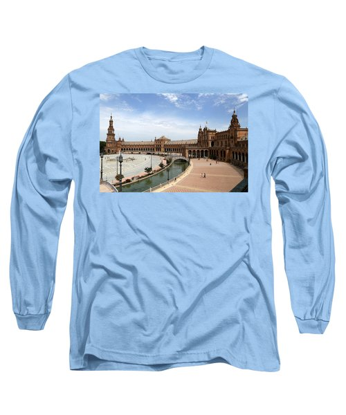 Long Sleeve T-Shirt featuring the photograph Plaza De Espana 4 by Andrew Fare