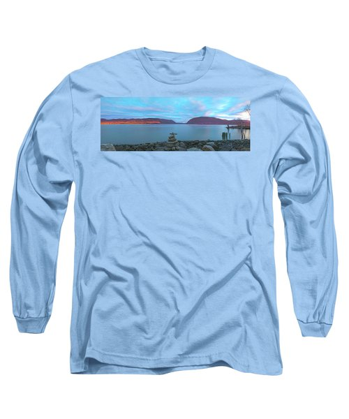 Plum Point Sunset Panorama Long Sleeve T-Shirt by Angelo Marcialis