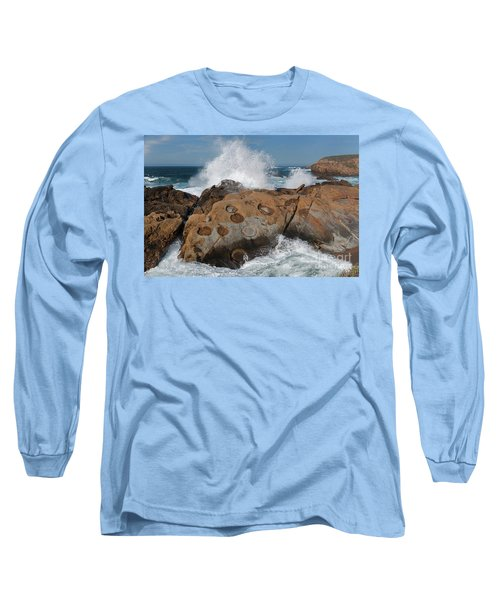 Point Lobos' Concretions Long Sleeve T-Shirt