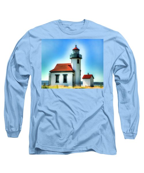 Point Robinson Lighthouse Long Sleeve T-Shirt by Greg Sigrist