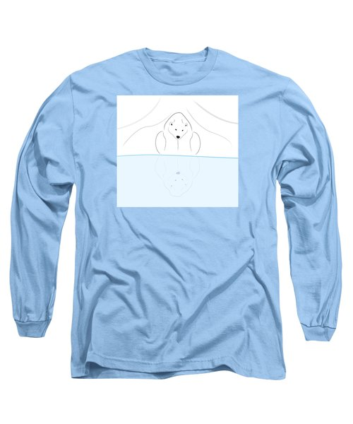 Polar Bear Reflection Long Sleeve T-Shirt
