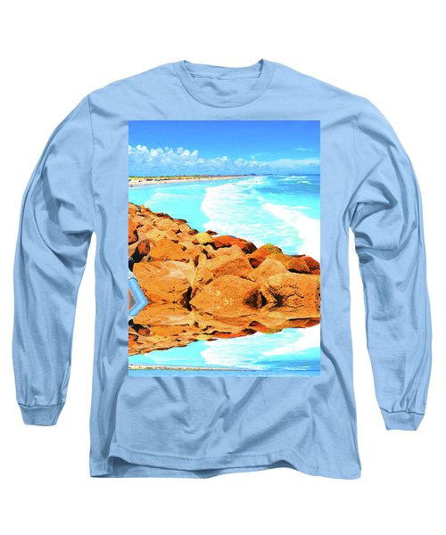 Ponce Inlet Jetty  Long Sleeve T-Shirt