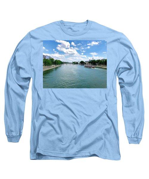 River Seine At Pont Du Carrousel Long Sleeve T-Shirt