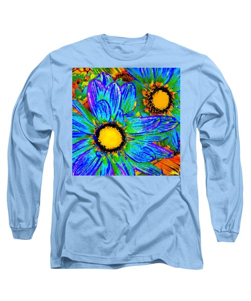 Pop Art Daisies 4 Long Sleeve T-Shirt