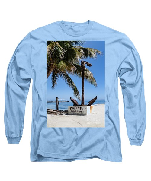 Long Sleeve T-Shirt featuring the photograph Popeyes by Lawrence Burry