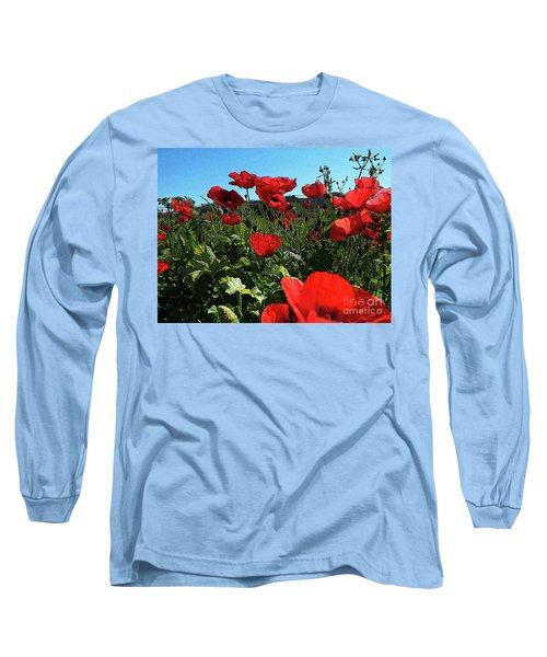 Poppies. Long Sleeve T-Shirt by Don Pedro De Gracia
