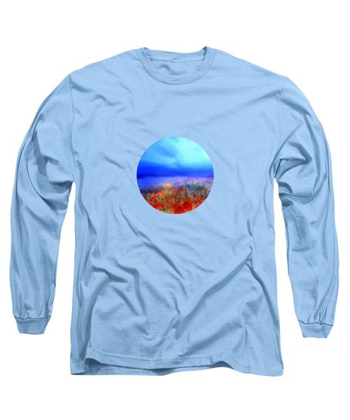 Poppies In The Mist Long Sleeve T-Shirt