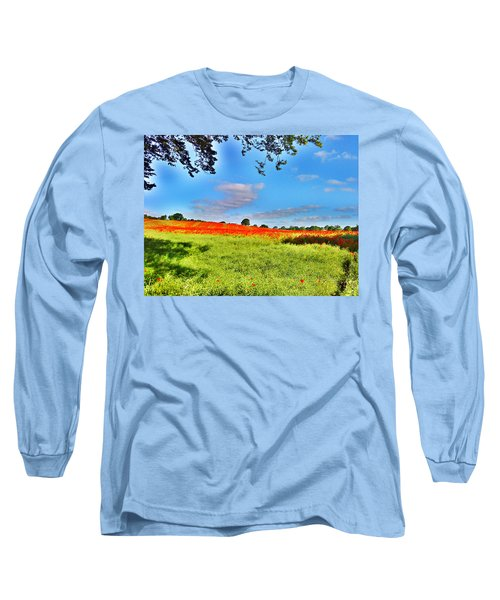Poppy Field Long Sleeve T-Shirt