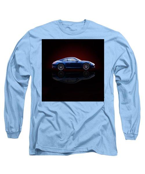 Porsche 911 Carrera - Blue Long Sleeve T-Shirt