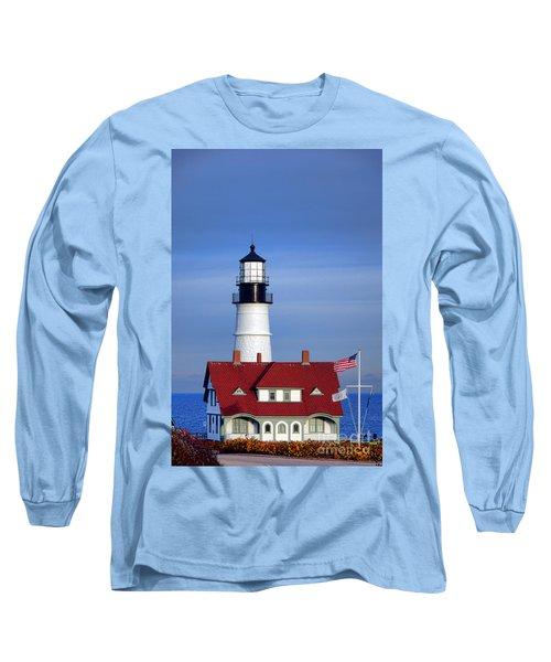 Portland Head Light And Keeper House Long Sleeve T-Shirt