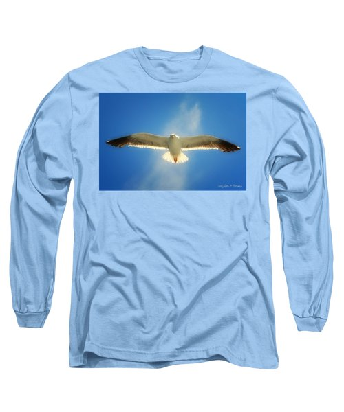 Long Sleeve T-Shirt featuring the photograph Portrait Of A Seagull by John A Rodriguez