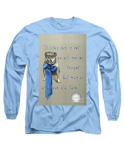Poster - Yale Bulldog Long Sleeve T-Shirt by Pg Reproductions