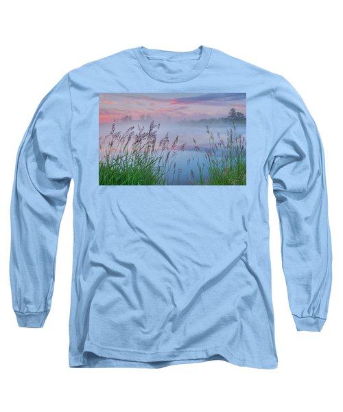 Long Sleeve T-Shirt featuring the photograph Prairie Pond Before Sunrise by Dan Jurak