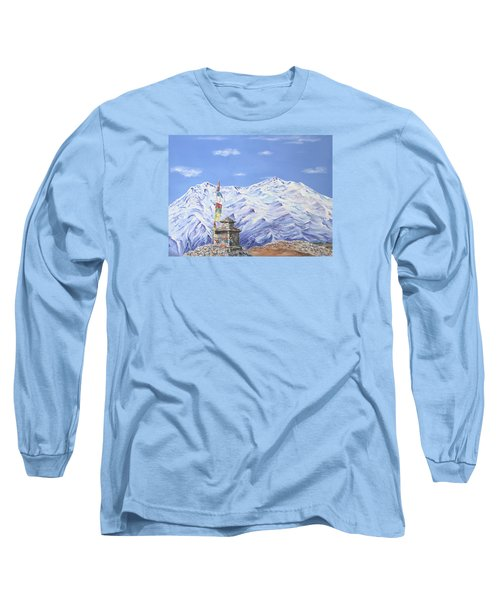 Prayer Flag Long Sleeve T-Shirt by Elizabeth Lock