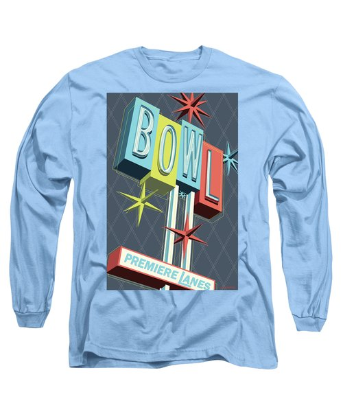 Premiere Lanes Bowling Pop Art Long Sleeve T-Shirt