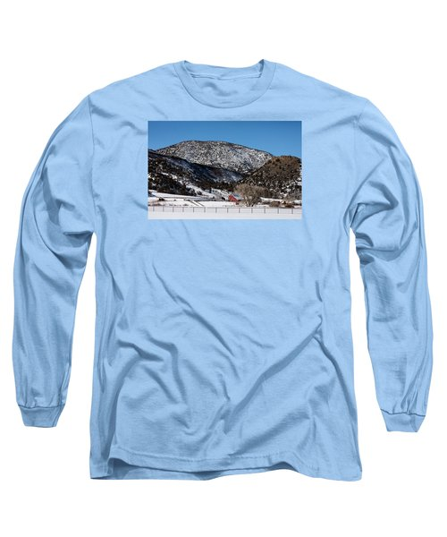 Pretty Red Barns From The Highway Between Aspen And Snowmass Long Sleeve T-Shirt by Carol M Highsmith