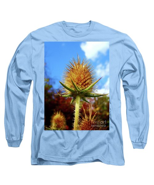 Long Sleeve T-Shirt featuring the photograph Prickly Thistle by Nina Ficur Feenan