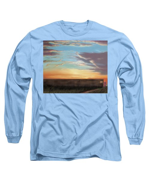 Private Sunrise.  Keep Out Long Sleeve T-Shirt