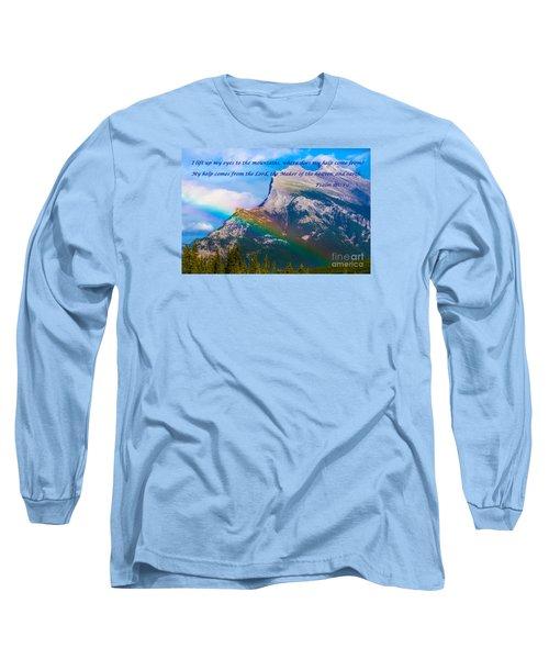 Psalm 121   1-2 Long Sleeve T-Shirt by John Roberts