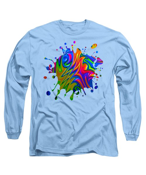 Psychedelic Rainbow Fractal Long Sleeve T-Shirt