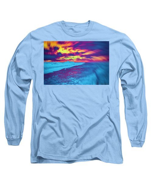 Psychedelic Sunset Long Sleeve T-Shirt