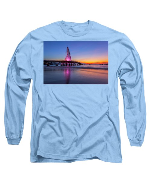 Puesta De Sol En La Playa De Los Murtos Long Sleeve T-Shirt