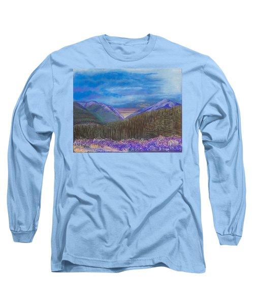 Purple Alaska Long Sleeve T-Shirt